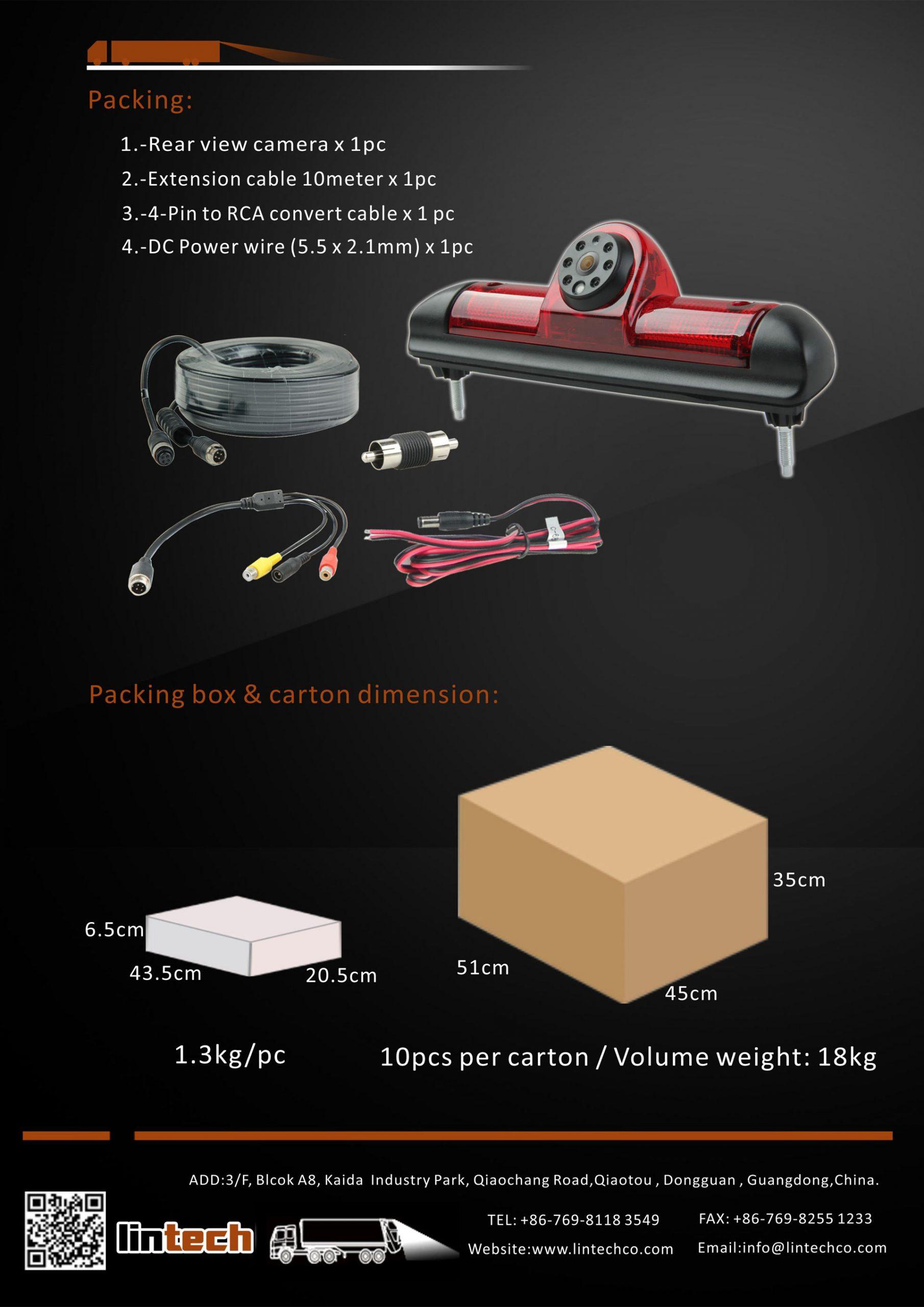8. Reversing Camera for Fiat Ducato