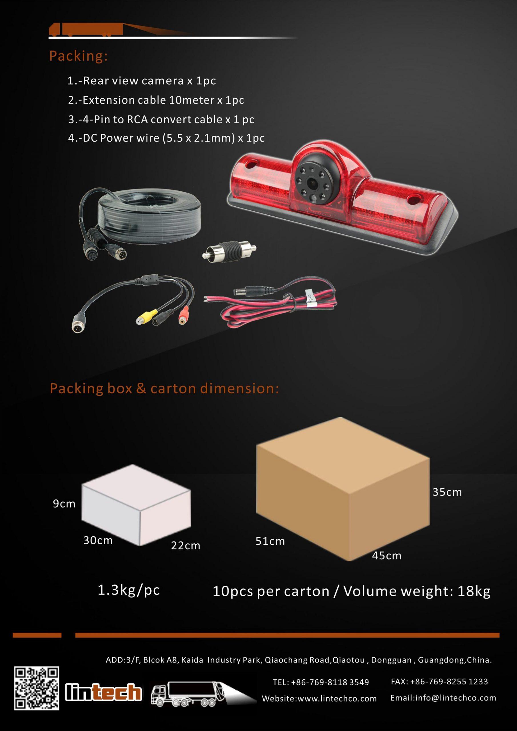 8.Backup Camera for Dodge ProMaster