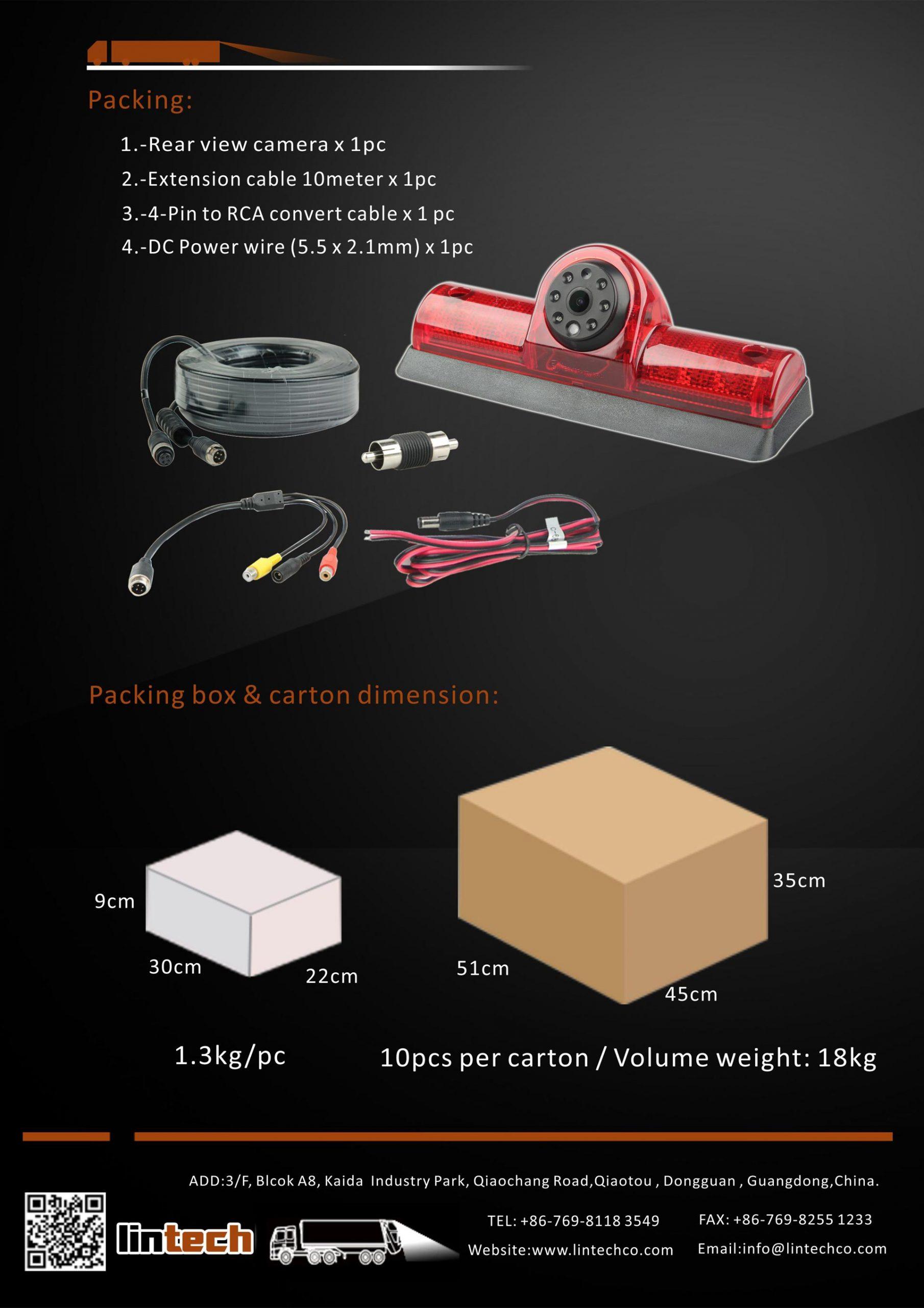 8.Backup Camera for Nissan NV Vans