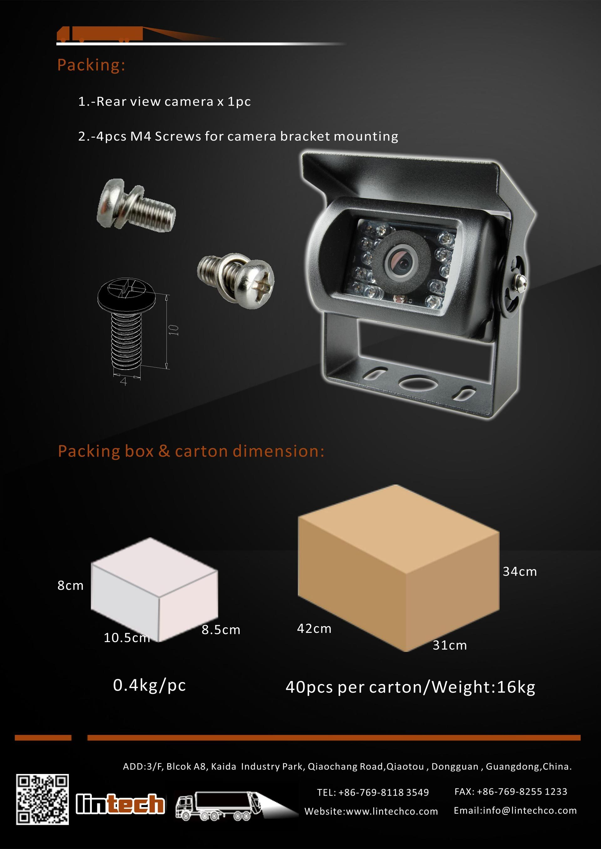 8.Classics Design Night Vision Waterproof Backup Camera