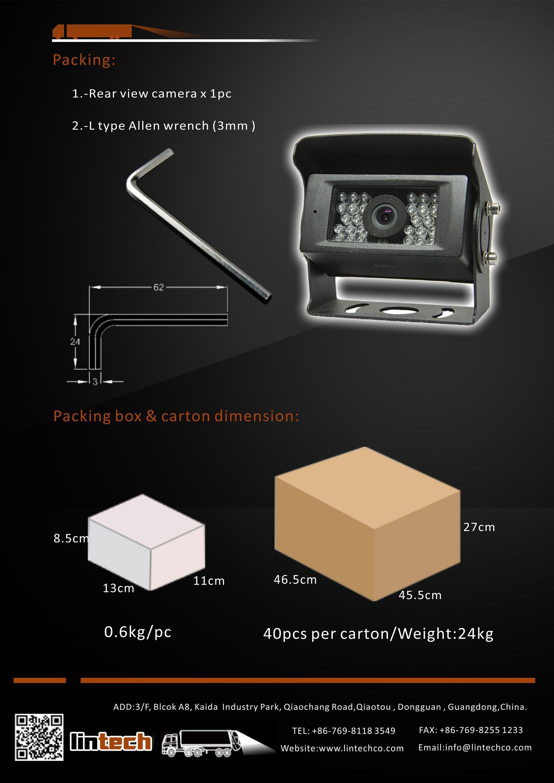8.Heavy Duty 28pcs IR LED Night Vision Enhanced IP69 Waterproof Backup Camera