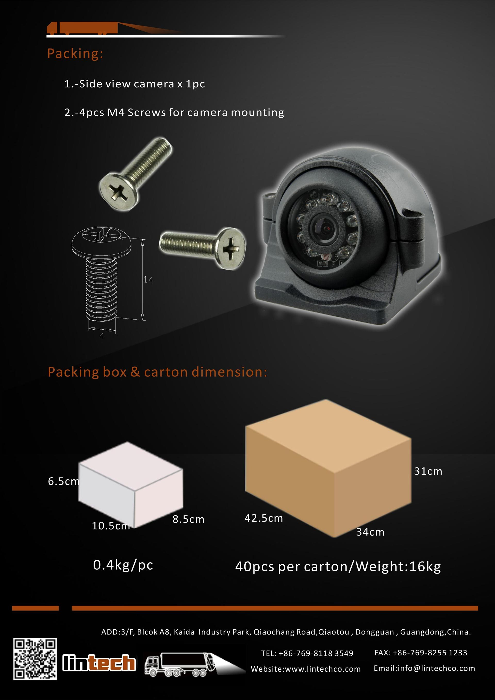 8.Metal Housing Heavy Duty Side View Camera