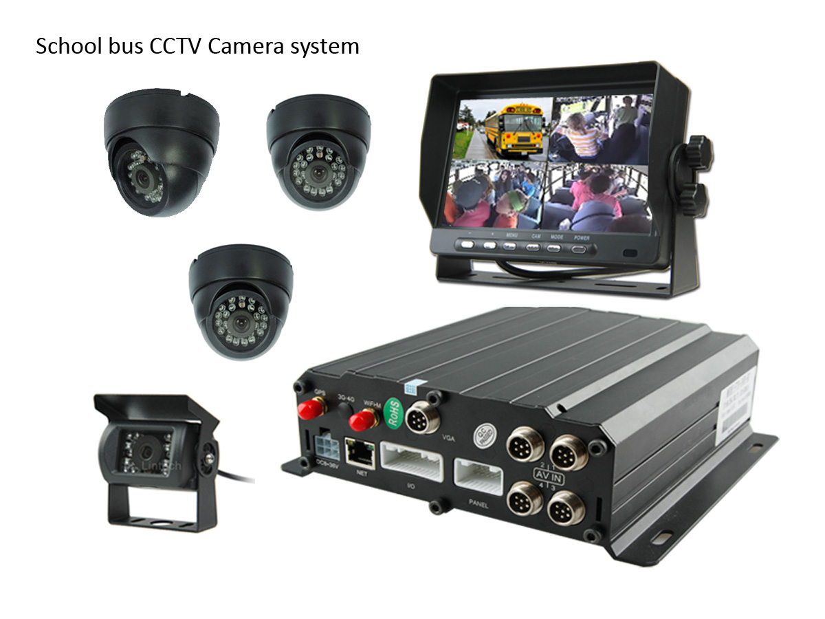AHD 960P DVR CCTV Camera System Kit for School Bus Fleet