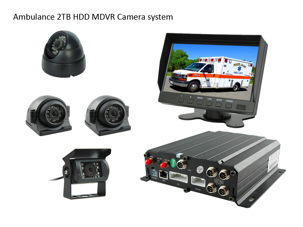 Ambulance 2TB HDD MDVR CCTV Camera system 4CHs
