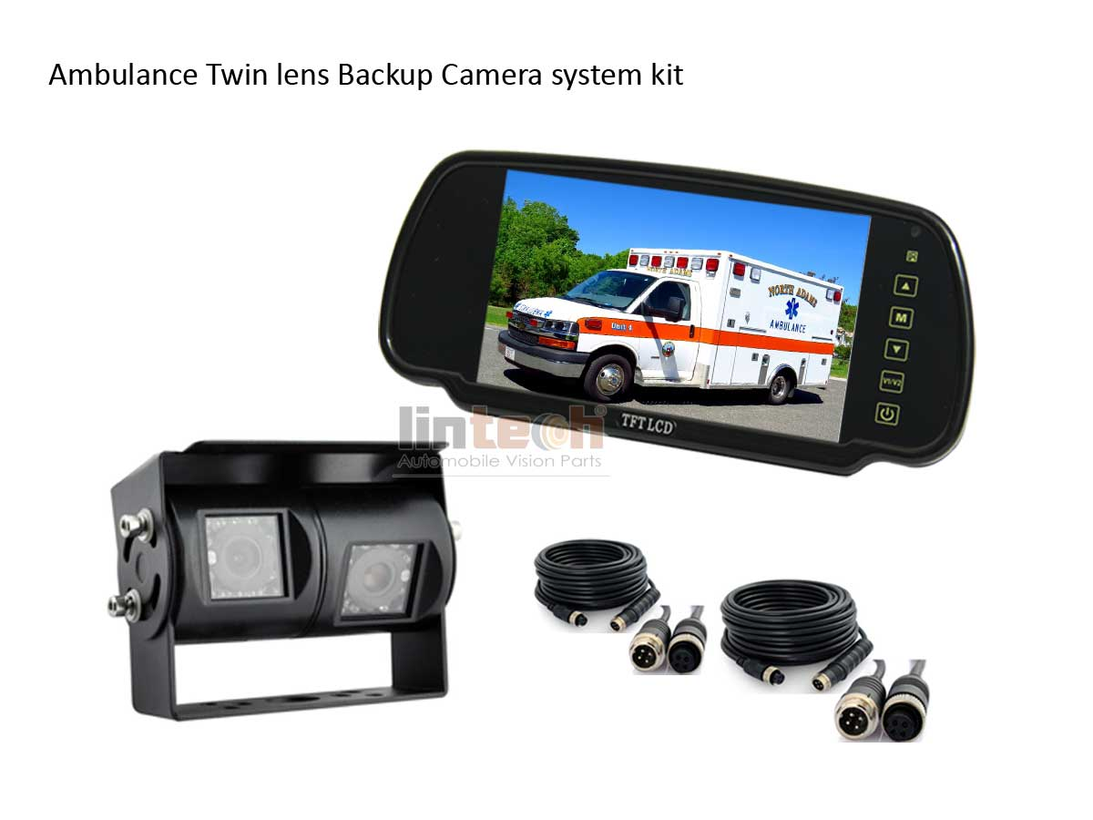 Ambulance-Twin-lens-Backup-Camera-system-kit