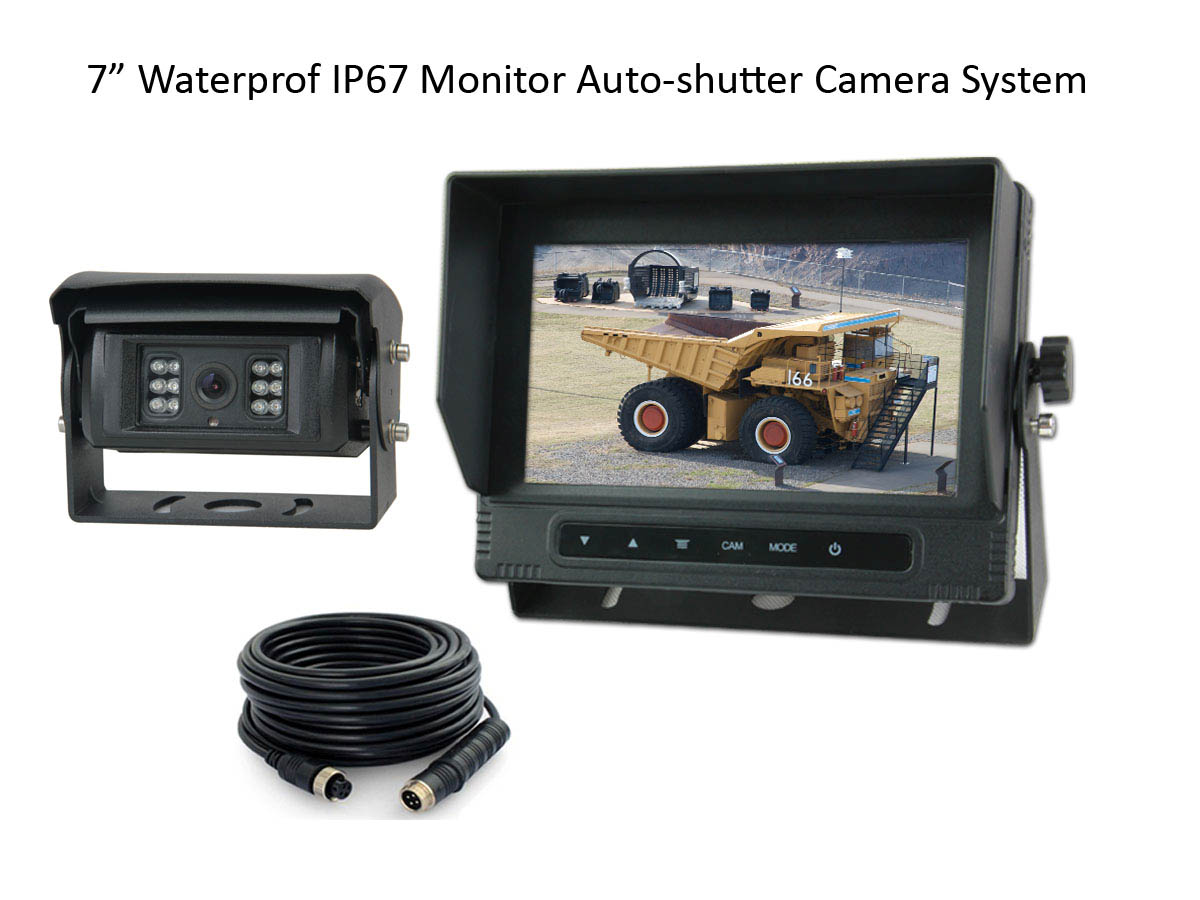 Auto-shutter Rear view Camera system for Construction Trucks