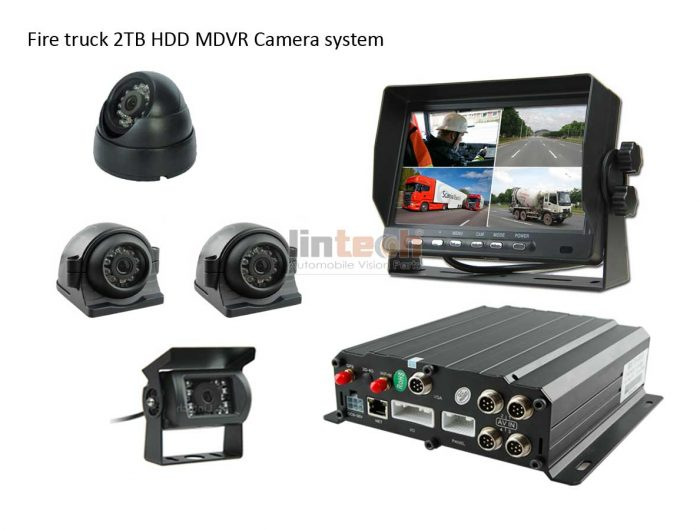 7 Inches 4chs Dvr Recorder Camera System For Fire Trucks