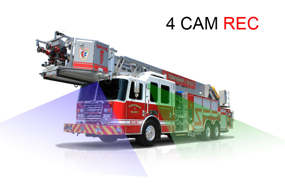 7 inches 4CHs DVR Recorder camera system for Fire trucks fleets