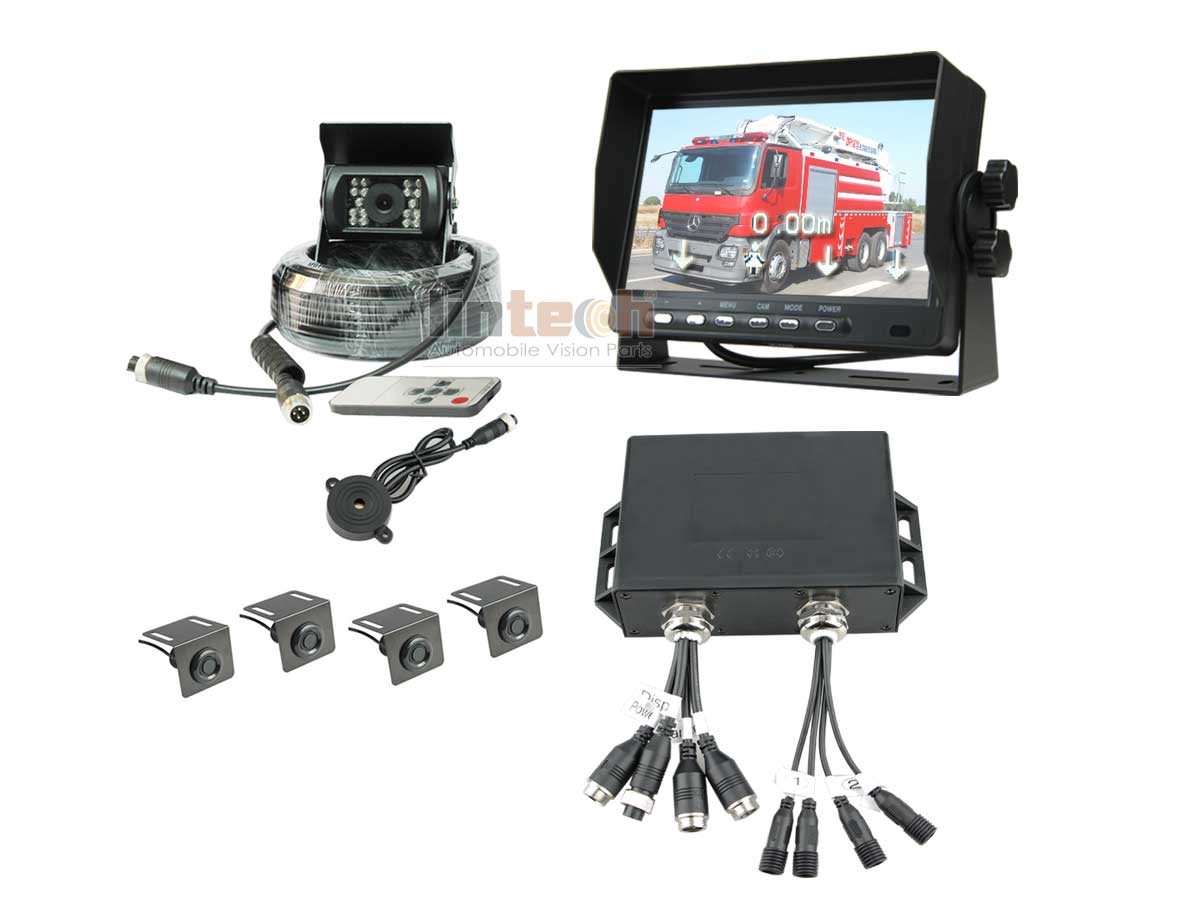 7 Waterproof Heavy Duty Parking Sensor System With Vision