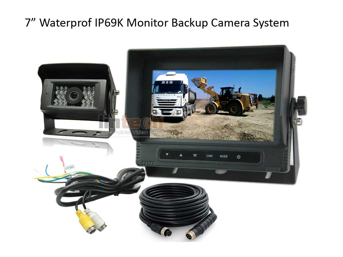 Waterproof-dustproof-Monitor-backup-camera-system