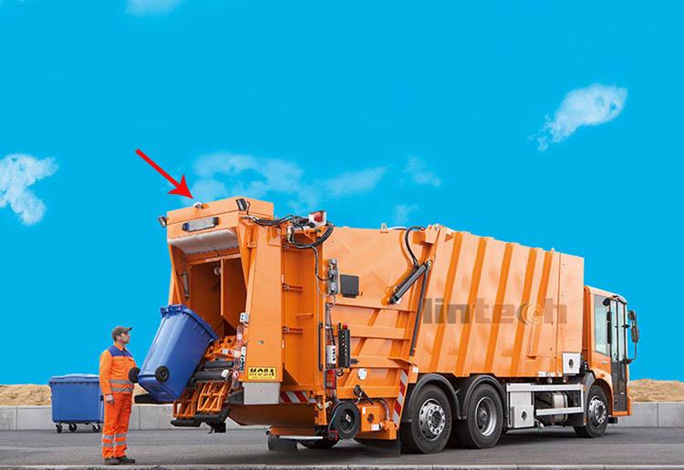 garbage truck reverse camera