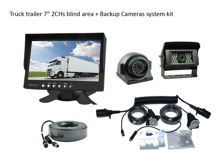 Tailer cable kit for Rear view + Side view camera system