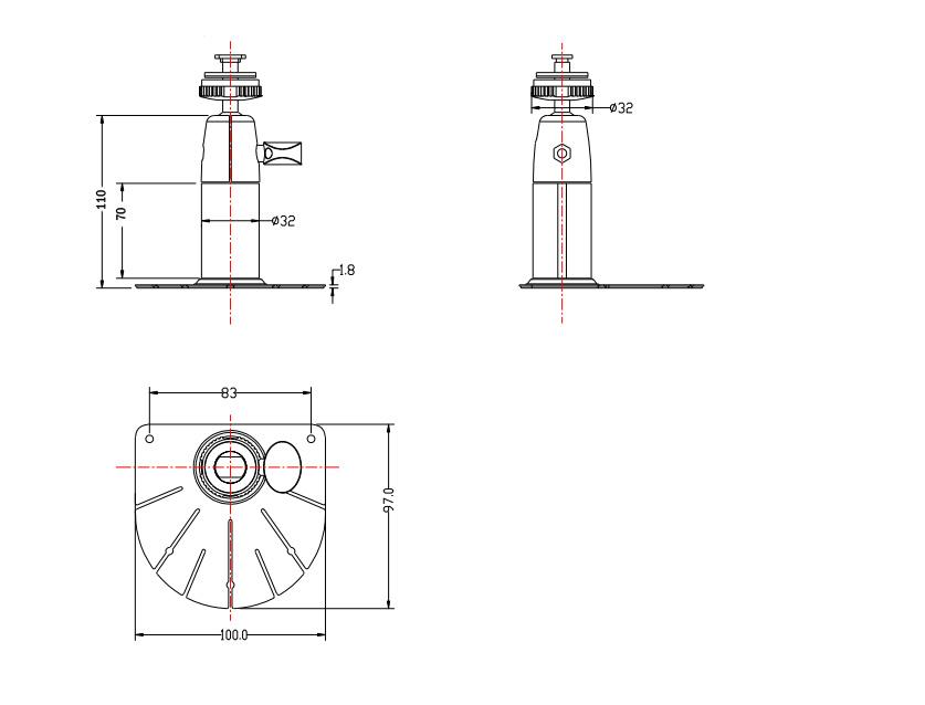 """110mm Height Monitor Bracket holder for 7"""" 9"""" 10"""" Trucks Monitors"""