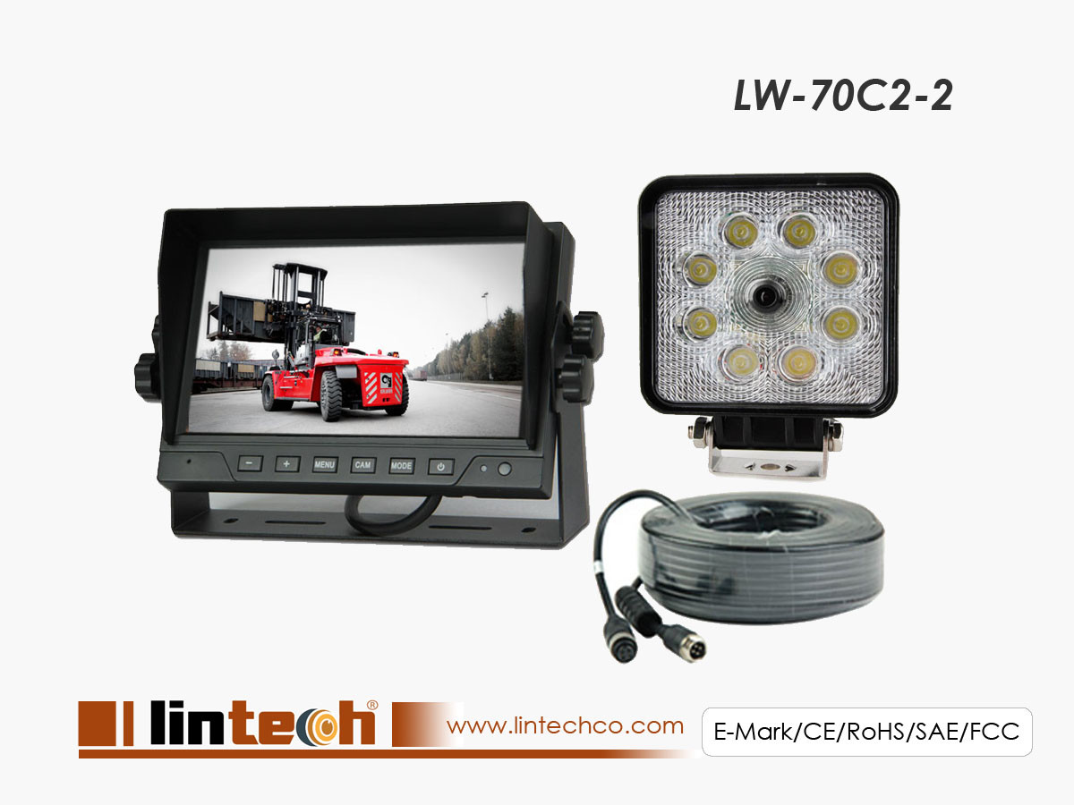 Forklift 7 Inches LCD Work light Rear view Camera system