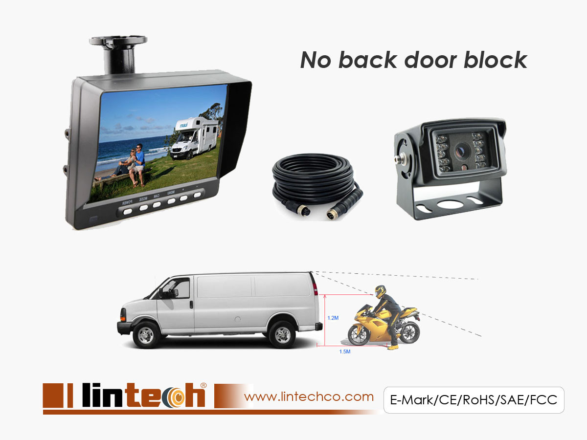 "30 degree Narrow Angle Camera with 7"" Monitor to Replace mid-mirror"