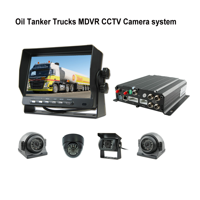 Oil Tanker Truck 4G Live video GPS MDVR CCTV Camera system kit for Gas tank truck