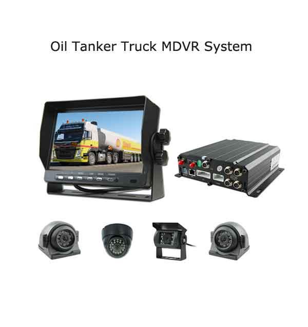 Oil Tanker Truck 4G Live video GPS MDVR CCTV Camera system kit for Gas tank truck