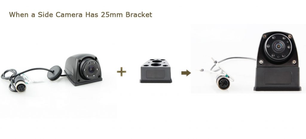 Mini side camera with 25mm support