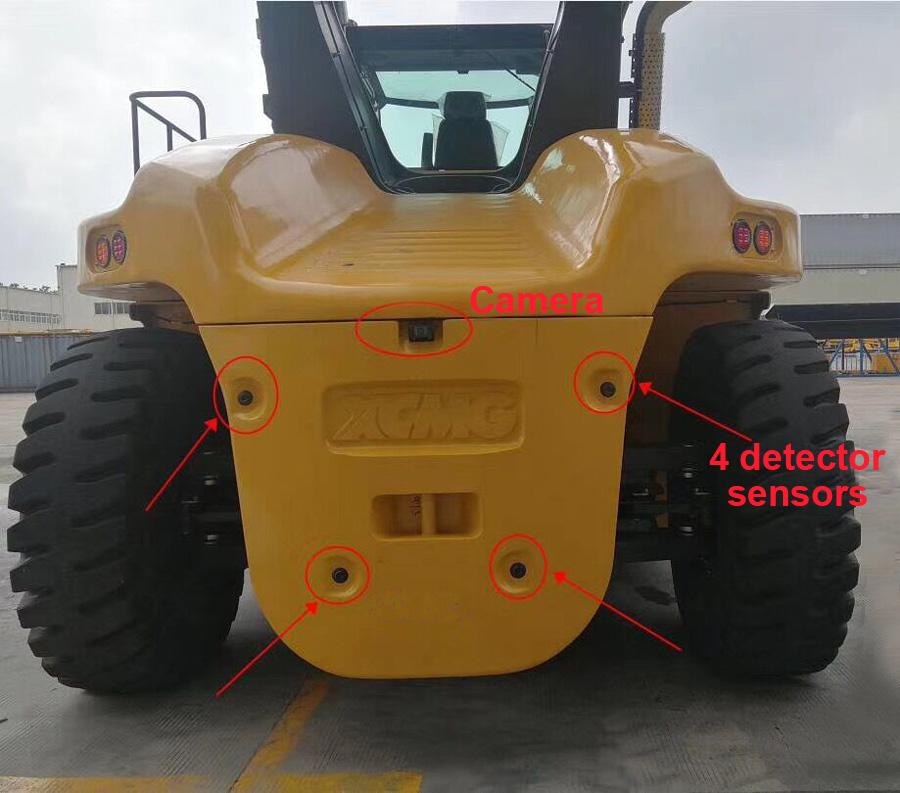 Container forklift parking sensor camera system 2
