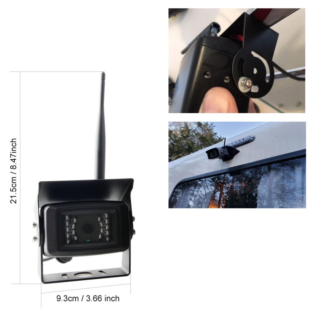 Wireless camera size