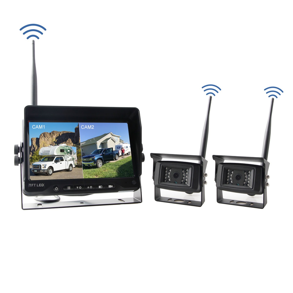Wireless camera system for RV, Motorhome trailers